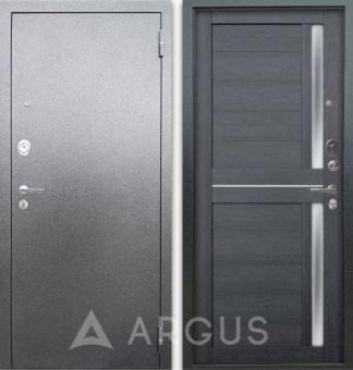 Стальная дверь со стеклом и молдингами Аргус Люкс 3К Серебро антик Мирра Лунная ночь