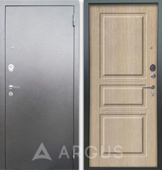 Входная дверь Аргус Люкс 3К Серебро антик Сабина Капучино