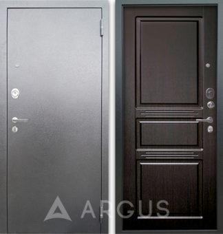 Стальная входная дверь Аргус Люкс 3К Серебро антик Сабина Венге