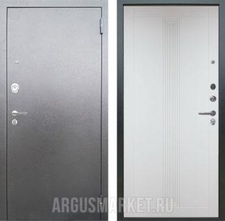 Сейф дверь Аргус Люкс 3К Серебро антик Вертикаль Белый Роял вуд