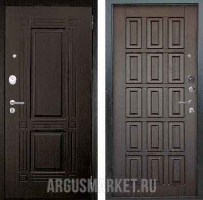Металлическая сейф дверь Аргус Люкс АС 2П Триумф Венге/Голд Венге