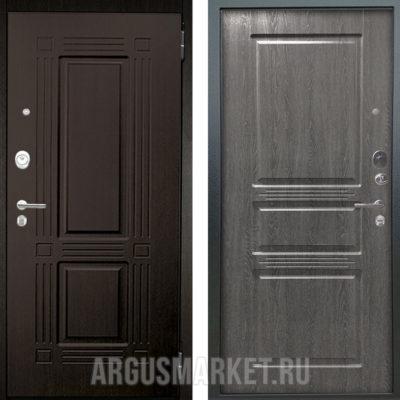 Заказать входную дверь Аргус Люкс АС 2П Триумф Венге/Сабина Дуб Филадельфия графит