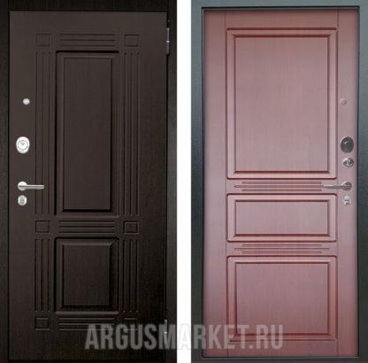 Железная сейф дверь Аргус Люкс АС 2П Триумф Венге/Сабина Махагон