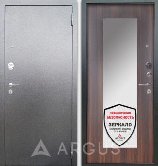 Дверь с зеркалом Аргус Люкс АС Серебро антик Милли Коньяк Калифорния