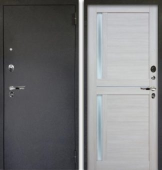Дверь с молдингами и стеклом Аргус Люкс ПРО 3К Черный шелк МИРРА БУКСУС