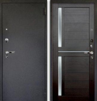 Сейф-дверь со стеклом Аргус Люкс ПРО 3К Черный шелк МИРРА ВЕЛЬВЕТ