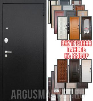 Входная сейф дверь Аргус Люкс ПРО 3К Черный шелк с панелью на выбор