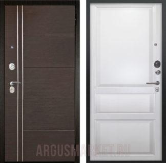 Входная дверь Аргус Люкс ПРО 3К 2П Черный шелк Лофт Венге/Каролина Эмаль белая