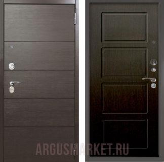 Входная стальная дверь Аргус Люкс ПРО 3К 2П Серебро антик Агат Венге/Геометрия Венге