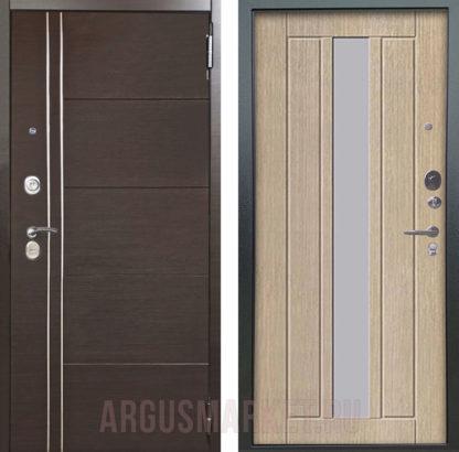 Сейф дверь Аргус Люкс ПРО 3К 2П Серебро антик Лофт Венге/Владимир Капучино