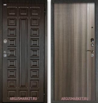 Входная сейф дверь с молдингами Аргус Сенатор Венге/Гауда Керамика