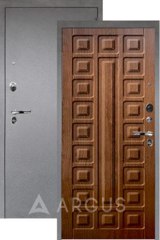 Входная дверь Аргус Люкс ПРО 3К Серебро антик СЕНАТОР ДУБ ЗОЛОТОЙ