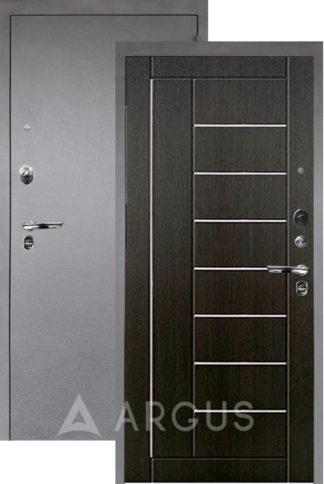 Черная дверь с молдингами Аргус Люкс ПРО 3К Серебро антик ФРИЗА ВЕНГЕ ТИСНЕНЫЙ