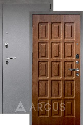 Металлическая входная сейф-дверь Аргус Люкс ПРО 3К Серебро антик ШОКОЛАД ДУБ ЗОЛОТОЙ