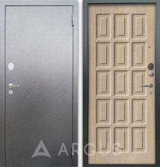 Дверь входная Аргус Люкс АС Серебро антик Шоколад Капучино