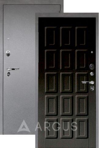 Стальная сейф-дверь Аргус Люкс ПРО 3К Серебро антик ШОКОЛАД ВЕНГЕ ТИСНЕНЫЙ