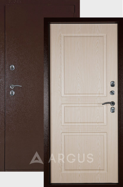 Белая входная дверь с терморазрывом Аргус ТЕПЛО-5