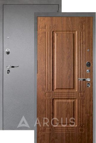 Стальная дверь Аргус Люкс ПРО 3К Серебро антик ТРИУМФ ДУБ ЗОЛОТОЙ