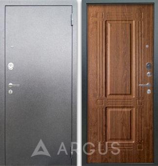Металлическая дверь Аргус Люкс АС Серебро антик Триумф Дуб золотой