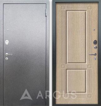 Стальная дверь Аргус Люкс АС Серебро антик Триумф Капучино