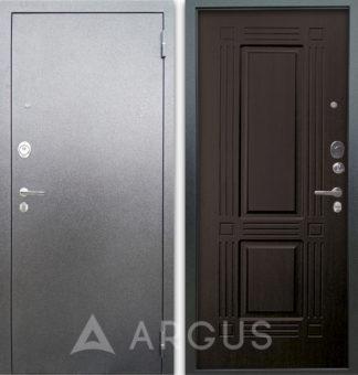 Входная дверь Аргус Люкс АС Серебро антик Триумф Венге тисненый